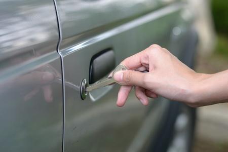 Insertion clé de voiture Banque d'images - 11981569