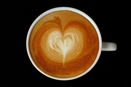 Coeur Latte Art Banque d'images - 11981571