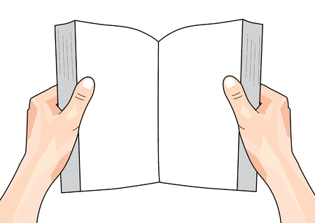 hand holding paper: Hands Holding Book