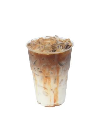 キャラメル: アイス コーヒー 写真素材