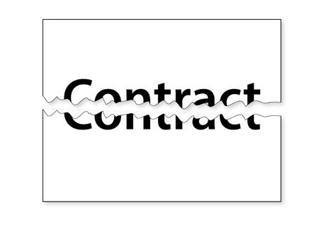 Teared Contract Stockfoto