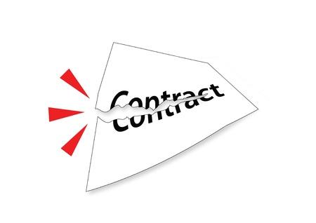 Tear Contract Stockfoto