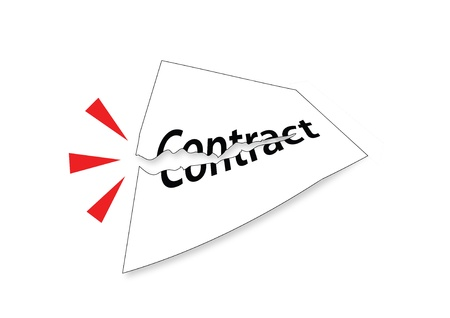 Tear Contract Stock Photo