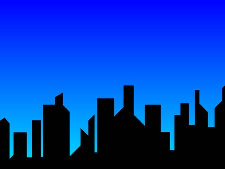 Blue City Stock Vector - 13240843