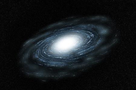 Galaxy of Blue, avec des nuages Banque d'images - 13413422