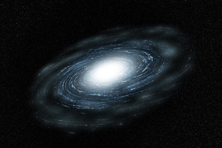 Galaxy van Blauw met cloud