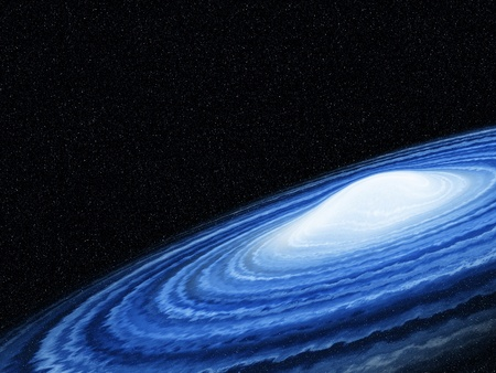 blue galaxy twist with cloud in the universe Stock Photo