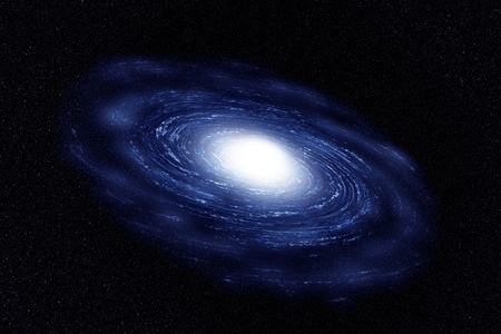 Twist galaxy of blue with cloud in the universe Stock Photo