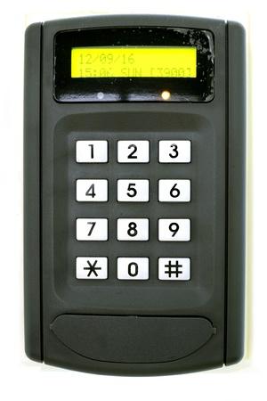 Code clé pour le verrouillage de la porte sur fond blanc Banque d'images - 16441770