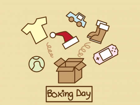 boxing sport: Illustration of many stuff out of the box
