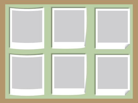Illustration of Blank Photos on the Board Stock Vector - 17001163
