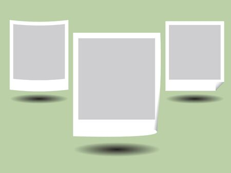 Illustration of Blank Photos Frame with Shadow Stock Vector - 17001162