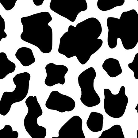 vaca caricatura: Ilustración de la mano sin fisuras elaborado patrón de la vaca Vectores