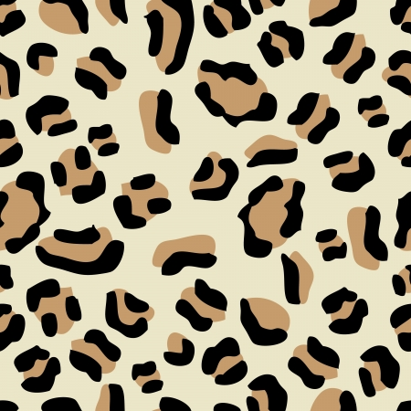 Illustration of seamless leopard pattern texture background Vector
