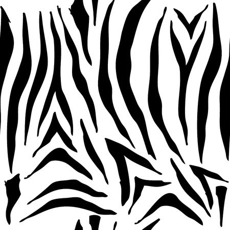 Illustration of hand drawn seamless zebra pattern background