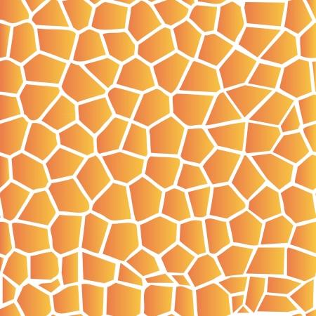 Illustration of set of giraffe skin print seamless background Vector