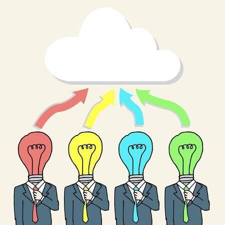 brain storming: Illustration of business men brain storming the idea