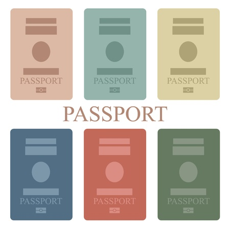 foreign country: Illustration of a collection of passport book Illustration