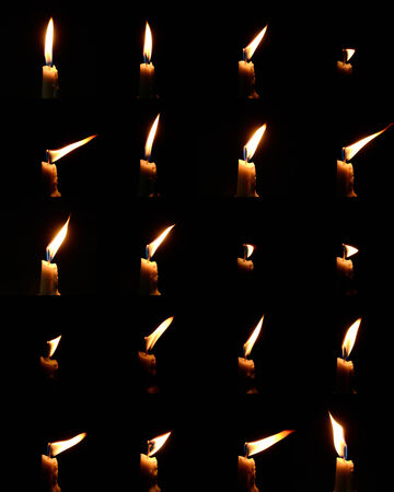 Collection of candle light in many different form Stock Photo