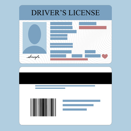 drivers license: Illustration of driver