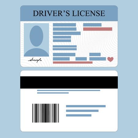 national identity: Illustrazione del conducente Vettoriali