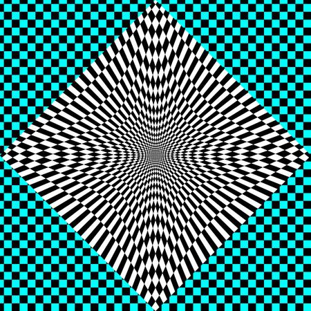 Illustraion of rectangle tile psycho illusion pattern Illustration