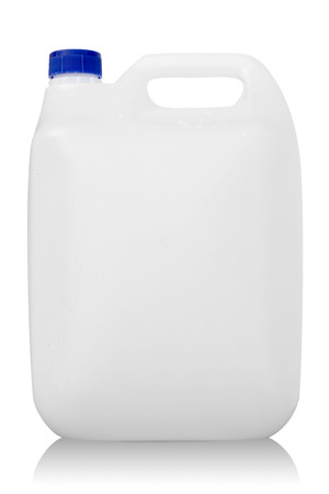 skim: White Gallon with Blue Cap Isolated on White Background