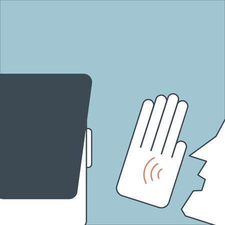 gossiping: Illustration of man speak to ear to tell something Illustration