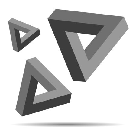 connection block: Illustration of Triangle Optical Illusion abstract concept Illustration