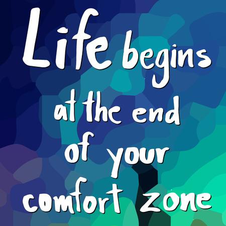 tr�sten: Zitat von Das Leben f�ngt am Ende Ihrer Komfortzone