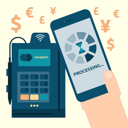 mobile payment: Illustration of mobile payment concept Illustration