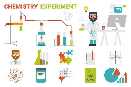 evaporacion: Ilustraci�n de la evaporaci�n qu�mica experimentar concepto infograf�a con los iconos y elementos