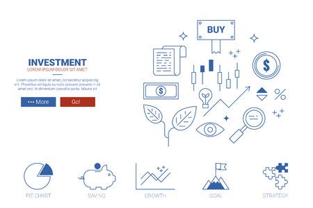 investment concept: Investment concept flat design. Illustration