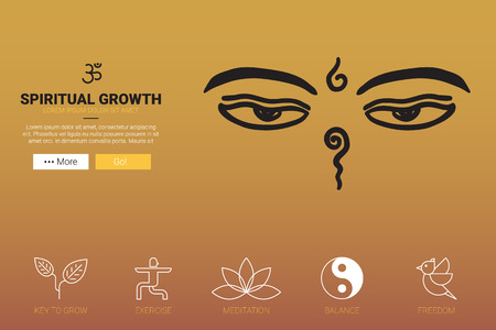 feng shui: Spiritual Growth flat design.