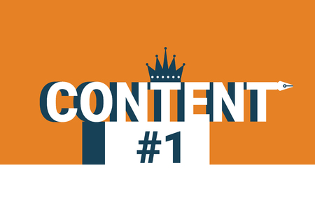 contents: Content word on the first place, content is king concept illustration