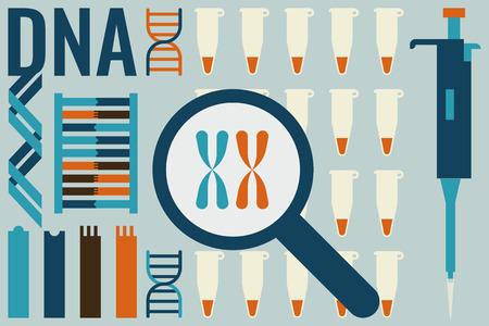 biologie moléculaire trouver des gènes dans l'expérience de l'ADN humain dans le concept de laboratoire