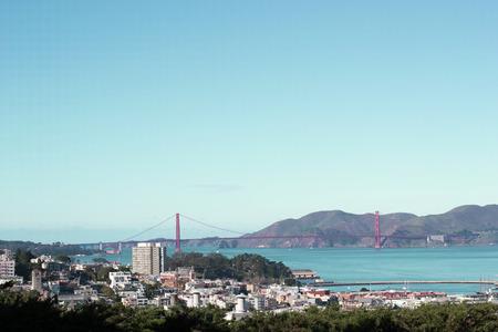 Golden Gate Bridge Landmark in San Francisco View form Coit Tower, California, USA Stock Photo