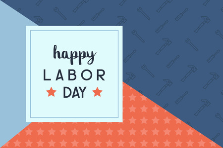 Happy labor day background illustration