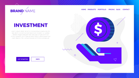 Investment concept vector illustration in modern flat design for landing page, website template, mobile app, etc.