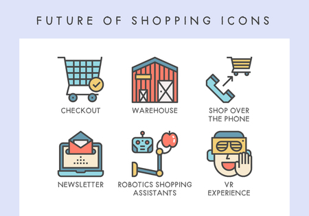 Future of shopping concept icons for website, blog, app, presentation, etc. Banque d'images - 121824631