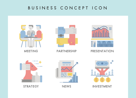 Business concept illustration icons for website, web, blog, presentation, etc. Banque d'images - 121824632