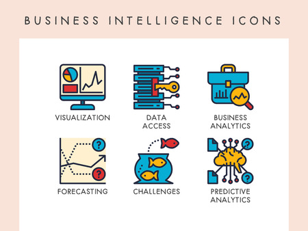 Business intelligence concept icons for website, app, blog, presentation, etc. Banque d'images - 121824635