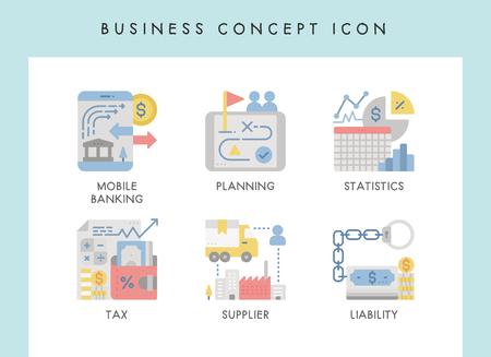 Business concept illustration icons for website, web, blog, presentation, etc. Banque d'images - 121824637