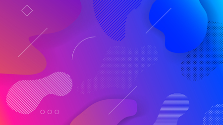 Abstract Red, Pink and Blue Gradient Background with freeform elements and lines for website