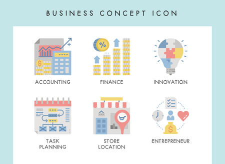 Business concept illustration icons for website, web, blog, presentation, etc. Banque d'images - 121824643