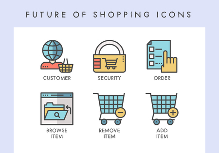 Future of shopping concept icons for website, blog, app, presentation, etc. Banque d'images - 121824647