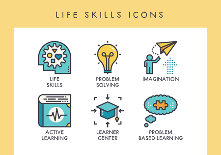 Life skill concept icons for web, app, presentation, etc. Banque d'images - 121824649
