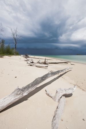 The storm is coming at the Kha island, Ranong, Thailnad photo