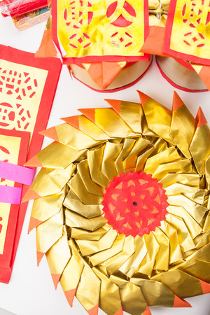 fake money: Incense paper are sheets of paper that are burned in traditional Chinese (Chinese new year) Stock Photo