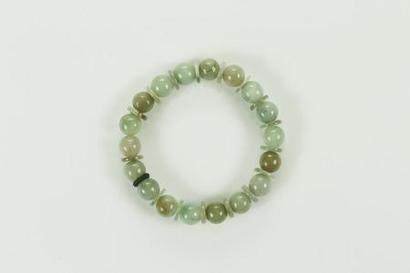 jade: jade bracelet isolated on a white background